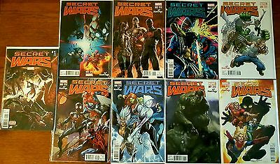 Marvel Secret Wars 2015 1,2,3,4,5,6,7,8 Hastings Variant Full Set Run Vf+/nm Lot