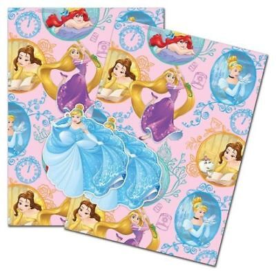 2 Sheets Gift Wrapping Paper & 2 Tags DISNEY MINNIE MOUSE Pink New Baby Girl