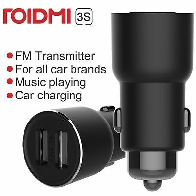 Xiaomi ROIDMI 3S 1S Car Bluetooth FM Transmitter MP3 Player Phone 2 USB Charger