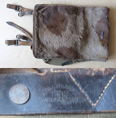 Wwii Marked German Field Backpack Tornister 1942