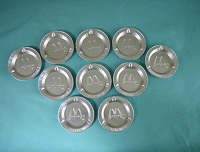 Collectible Vintage New McDonald's Aluminum Ashtrays Lot of 10