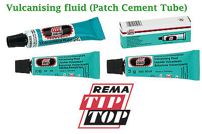 REMA TIP TOP VULCANISING FLUID CEMENT 3 5 10g for tubes patches cycles cars