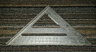 """Vintage Swanson Speed Square 7"""" Aluminum - Frankfort, IL 1987 - Pre-Owned"""