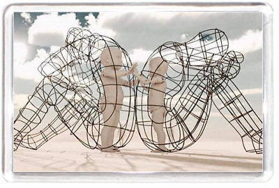 Fridge Magnet Model Metal Child Sculpture Wire Quote Saying Gift Present Novelty