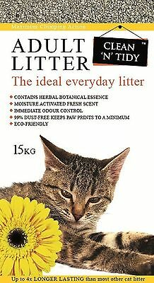 Clean-n-Tidy Adult Everyday Cat Litter 15 Kg 15kg