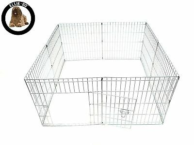 Ellie-Bo Easy-Up Puppy Rabbit Play Pen 61 cm Silver 8-Piece