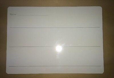 X2 Educational Childrens Kids Whiteboard A4 Lined & Plain New Free P&P