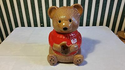 Duncan Hines Bear Cookie Jar Made In Canada 1974 Vintage Rare