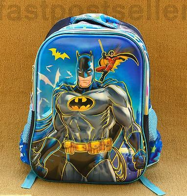 "17.5"" Batman 3D Boys Kids Large School Backpack Rucksack Shoulder Bag Gift"