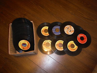 Beatles, Rolling Stones, More...  Lot Of 45 Records.