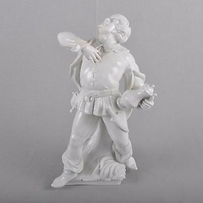 Meissen literary Figure Sir John Falstaff, 26 cm, White porcelain