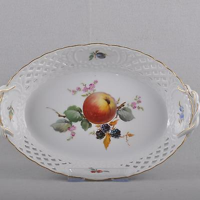 Meissen oval Fruit Bowl / Openwork basket / Bowl, fruit Painting
