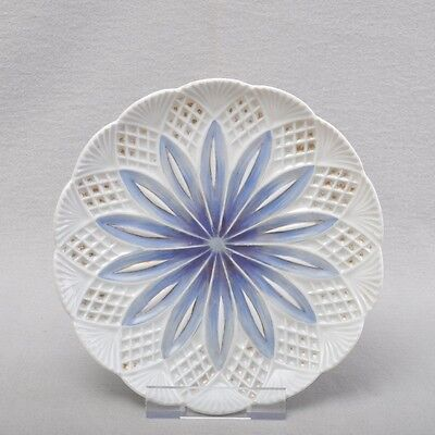 Neo-Gothic Meissen plate / wall plate, 18.5cm, blue, gold, rare, circa 1820