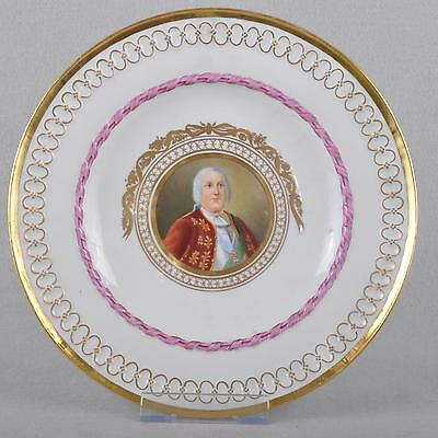 Meissen marcolini painted plate portrait painting ca 1780, museal