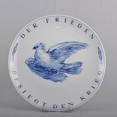 Meissen wall plate/collection plate, dove blue, 25,5 cm