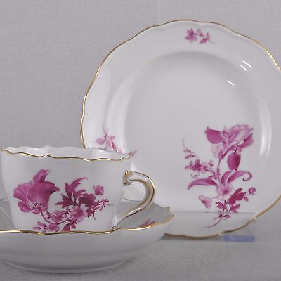 Meissen Flowers Purple Mocha Dishes Espresso Place Setting, Several Available