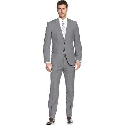 New Men Slim Fit Gray Wedding Suits Business Formal Groom Tuxedos Jacket+Pants