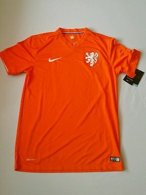 2014 World Cup Nike Netherlands Home Authentic Football Shirt Soccer Jersey $90+