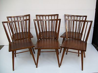 Set Of 6 Mid Century Eames Era Russell Wright Dining Chairs / Conant Ball