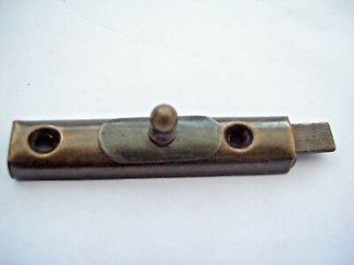 Antique Brass Vintage Retro Cupboard Door Slide Bolt Lock Latch