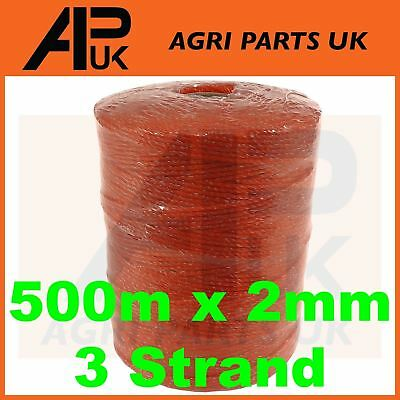 500m x 2mm 3 Strand Electric Fence Polywire Poly Wire Fencing Energiser QUALITY
