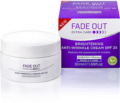 Fade Out Extra Care Brightening Anti Wrinkle Cream SPF 25 - 50ml