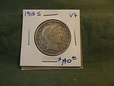 1915S VF silver Liberty Barber Half Dollar, see our store for more, 1915 S