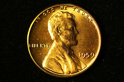 1959 1C RED Lincoln Cent, FREE SHIPPING!!