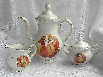 5 piece Winterling Bavaria West Germany Tea Pot,Sugar,Creamer Set - (237)