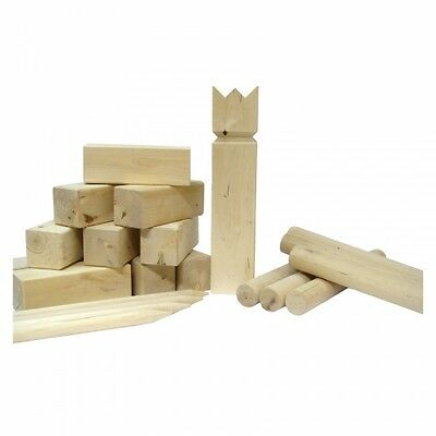 "Kubb Lawn Game Wooden Blocks and Batons ""Combination of Bowling and Horseshoes"""