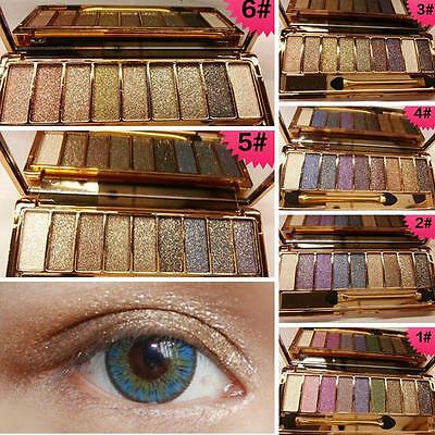 PRO 9 Colors Diamond Bright Makeup Glitter Eye Shadow Look Naked Color ii