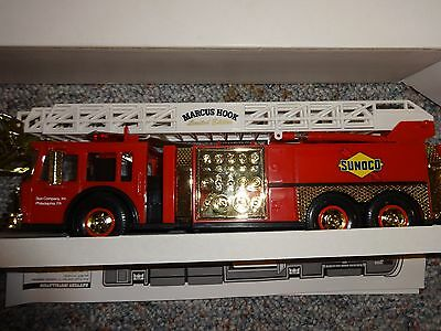 1995 Sunoco Aerial Tower Fire Truck Gold Serial Numbered Limited Edition