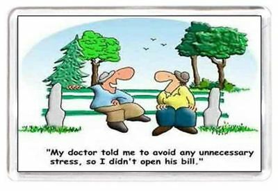 Fridge Magnet Doctor Stress Bill Invoice Cartoon Quotes Saying Gift