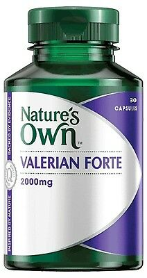NATURE'S OWN Valerian Forte 2000mg 30 CAPSULES INSOMNIA AND SLEEP MANAGEMENT