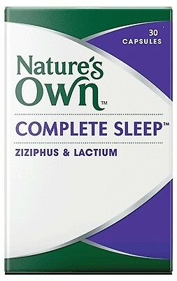 NATURE'S OWN Complete Sleep 30 Capsules INSOMNIA AND SLEEP MANAGEMENT