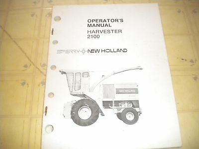 New Holland   2100 Harvester operator manual