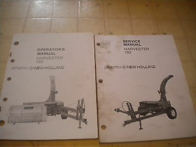 New Holland   782 Harvester service manual and operator manual