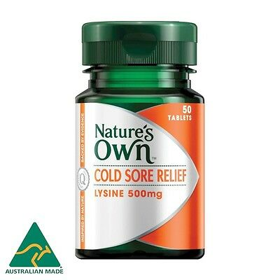 Nature's Own Cold Sore Relief, L-Lysine 500Mg 50 T Reduces Symptoms & Outbreaks