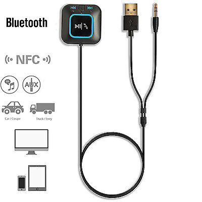 Wireless Bluetooth 4.0 Receiver Car Kits w/ NFC for Smartphones Audio AUX In