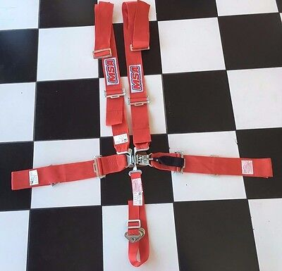 Andra Drag Racing  5 point Harness SFI 16.1 Approved Latch & Link ,  - Red