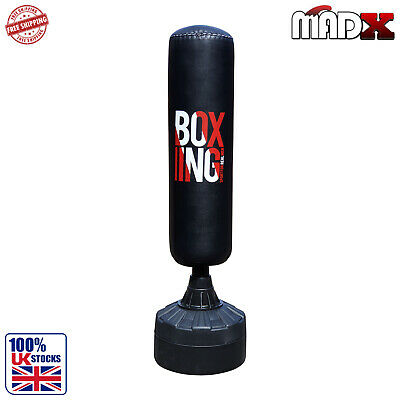 sac de frappe boxe autoportant punching ball hauteur r glable noir rouge neuf 68 eur 124 90. Black Bedroom Furniture Sets. Home Design Ideas