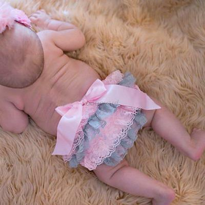 Newborn Baby Girl Nappy Cover Toddler Kids Lace Ruffle PP Diaper Pants Bloomers