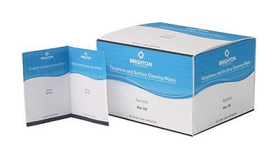 Brighton Professional Telephone And Surface Moist Wipes Sachet Box 100