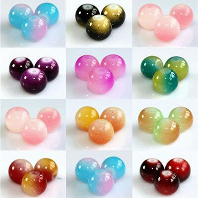 Two Tone Coloured Glass Art Beads Jewelry Making Necklace Bracelet Craft DIY 6mm