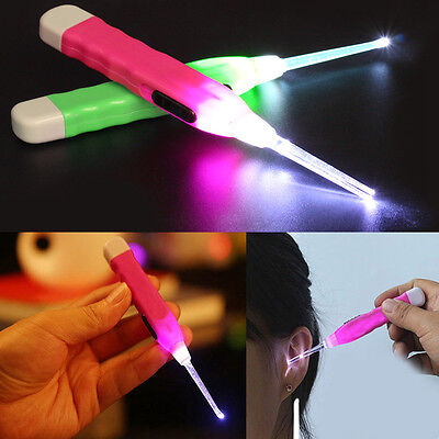 Ear Pick Wax Remover Cleaner Curette With LED Flashlight Light Earpick