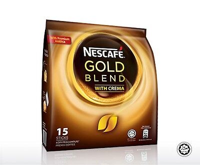 Nescafe Gold Blend Premium Arabica Instant Coffee with Crema Rich 15S x 20g