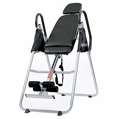 Premium Folding Gravity Inversion Table w/ Padded Backrest Fitness Home Gym New