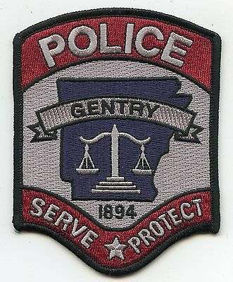 Gentry Arkansas Ar Police Patch
