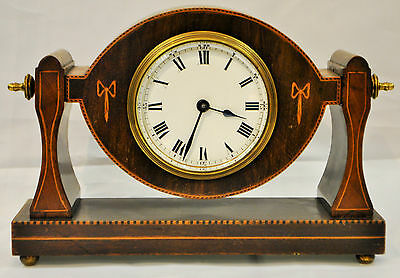 Unusual Vintage 8 Day Mechanical Mantel Clock with an Elliott Movement