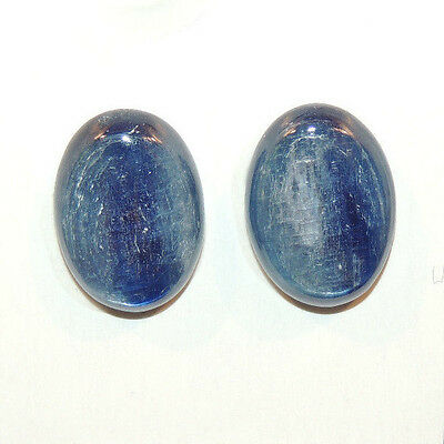 Kyanite 13x18mm with 5mm dome Cabochons Set of 2 (11073)